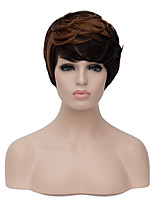 European Fashion Short Sythetic Black Brown Mixed  Party Wig For Women