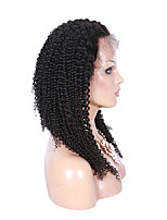 Small Curly Wig 8-26 Inch 1# Color 100% Brazilian Human Hair Lace Front Wig With Baby Hair