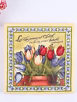 100% virgin pulp 20 Tulip Wedding Napkins