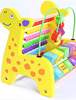 Toy Abacuses Puzzle Toy / Wood Rainbow For Kids Above 3
