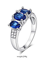 Blue AAA Zircon Fine Statement Ring for Wedding Party