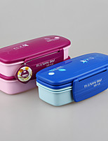 Japanese Style Stackable Plastic Lunch Box with Cutlery