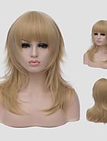 mode européen chauds nouveaux bangs obliques long cheveux bouclés.