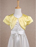 Kids' Wraps Shrugs Short Sleeve Satin Daffodil Wedding / Party/Evening Scoop Draped Clasp