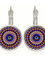 Earring Round,Jewelry 1 pair Fashionable Alloy Assorted Color Daily / Casual