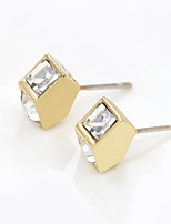 Earring Geometric Stud Earrings Jewelry Women Fashion Daily / Casual Alloy / Rhinestone 1 pair Gold / Silver