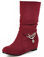Women's Shoes Fall / Winter Fashion Boots / Slouch / Round Toe Boots Office & Career / Dress / Casual Low Heel Chain