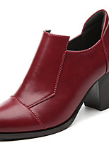 Women's Shoes Synthetic Spring / Summer / Fall / Winter Heels Heels Office & Career / Casual Chunky Heel Black / Red