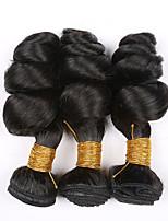 3 Peças Ondulação Larga Tramas de cabelo humano Cabelo Brasileiro Tramas de cabelo humano Ondulação Larga