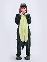 Kigurumi Pyjamas Collant/Combinaison Halloween Pyjamas animale Vert Géométrique Polyester Kigurumi Unisexe Halloween / Noël / Carnaval