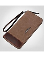 Men Canvas Casual Evening Bag / Wallet / Checkbook Wallet