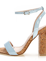 Women's Shoes Patent Leather Summer Heels / Open Toe Sandals Office & Career / Dress / Casual Chunky Heel