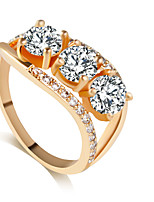 Ring Fashion Wedding Jewelry Alloy Women Band Rings 1pc,8 / 9 / 8½ / 9½ Gold / Silver