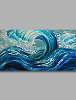 Stretched (Ready to hang) Hand-Painted Oil Painting 100cmx50cm Canvas Wall Art Modern Abstract Blue Dark
