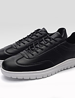 Men's Sneakers Summer Comfort / Round Toe PU Casual Flat Heel Lace-up Black / White Others