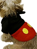 Winter Cute Micky Mouse Costume Clothes  Pets Jumpsuit Pet Clothes for Pets Dogs Halloween and Christmas Dog Costume