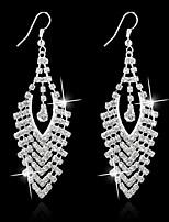 Korean Women Alloy Silver Hoop Earrings