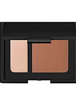 2 Earth Color Pressed Powder Kit Bronzer&Highlighter Contour Blush Matte Makeup Cosmetic Palette(2 Color Selected)
