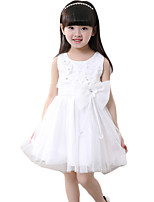 Girl's Casual/Daily Solid DressPolyester Summer Pink / White