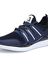 Men's Sneakers Spring / Summer / Fall Comfort Leather Outdoor / Athletic Flat Heel Lace-up Black / Blue Sneaker