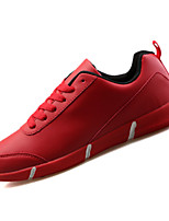 Unisex Sneakers Spring / Fall Comfort PU Casual Flat Heel Black / Blue / Red / White Walking