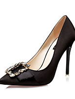Women's Shoes Silk Fall Heels / Pointed Toe /  Clogs & Mules Dress Stiletto Heel Buckle Black / Red / Gray / Gold