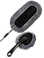 Grey Wax Brush Two Sets Of Car Cleaning Wax Suit Nanowires Retractable Wax Car Duster