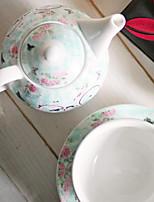 juego de té de porcelana de amantes de la taza de café de la bicicleta regalo taza enana de tres piezas de la olla de cerámica nuevo hueso