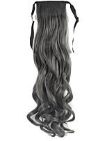 Fashion Drawstring Ribbon Wavy Curly Ponytails Hair Extensions 22