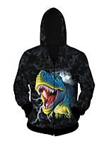 3D  Hoodie Long Sleeve Dinosaur Printing Clothing