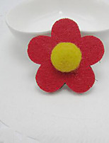 Girls Hair Accessories Cotton Blends / Others / Tweed Pink / Purple / Red / Yellow