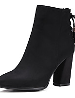 Women's Boots Spring / Fall / Winter Heels / Fashion Boots / Round Toe Fleece / Dress / Casual Chunky Heel Zipper