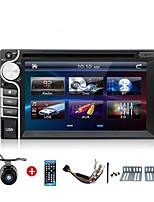 2 дин 6,2 дюймовый DVD-плеер автомобиля окна CE6.0 Os универсальный автомобильный радиоприемник в тире Bt стерео видео SWC