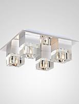 5 Montagem do Fluxo ,  Contemprâneo Pintura Característica for Cristal / LED Metal Sala de Estar / Quarto / Quarto de Estudo/Escritório