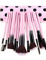 12 Makeup Brushes Set Nylon Portable Wood Face Others