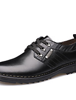 Men's Flats Spring / Summer / Fall Pointed Toe Leather Office & Career / Casual Flat