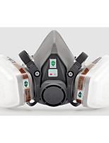 máscaras industriales polvo y gas de protección (material: goma&plástica&Carbón activado;)