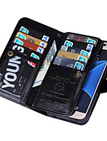 Magnetic Detachable Wallet Full Body Leather Case with Card Slots For Samsung Galaxy S4/S5/S6/S6 Edge/S7/S7 Edge