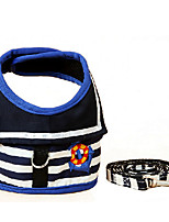 Dog Coat Red / Blue Winter / Spring/Fall Stripe Striped / Casual/Daily Dog Clothes / Dog Clothing-Other