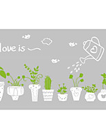 Botanical Wall Stickers Words & Quotes Wall Stickers Decorative Wall Stickers,  Potted Decals