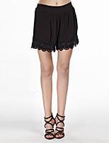 Heart Soul® Women's Mid Rise Shorts Black Casual Pants-12AA37906