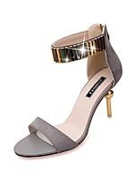Черный / Розовый / Серый-Женский-Для праздника-Синтетика-На конусовидном каблуке-На каблуках-Обувь на каблуках
