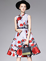 AFOLD® Femme Mao Sans Manches Genou Robes-Y6076