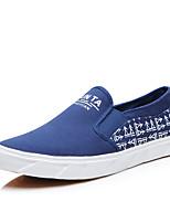 Men's Sneakers Amir New Fashion Comfort / Flats Canvas Casual Flat Heel Slip-on Black / Blue /Gray Walking