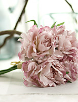 1PC Household Artificial Flowers Sitting Room Adornment  Flowers  Polyester  Peony Artificial Flowers