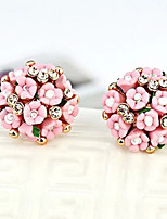 Earring Flower Ball Style Jewelry 1 pair Fashionable Alloy Daily / Casual