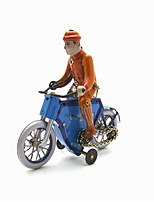 The Bicycle Wind-up Toy Leisure Hobby  Metal Blue For Kids