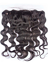 7A 100% Indian Virgin Remy Human Hair Body Wave Lace Top Lace Frontal With Baby Hair