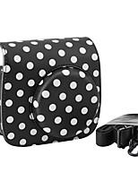 PU-Leder-Minikamera Fall für Fujifilm Instax mini 8 mit abnehmbarem Schultergurt, schwarz
