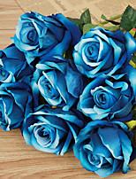 1 1 Une succursale Plastique Roses Fleur de Table Fleurs artificielles 20inch/51cm